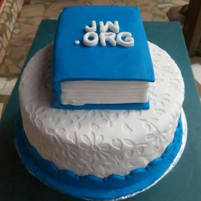 A wonderful tasty JWORG cake for the whole congregation Member