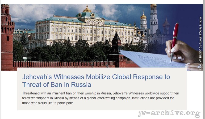 russia: jehovah's witnesses mobilize global response to threat of