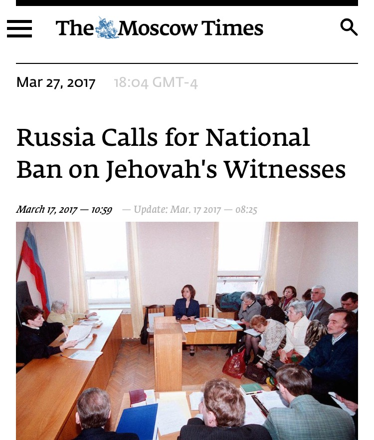 Supreme Court Rules to Criminalize the Activity of Jehovah