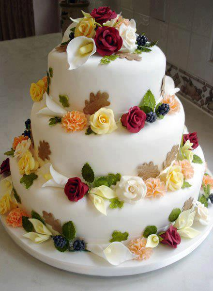 A Beauttiful Wedding Cake Food The World News Media