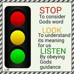 Very  good  traffic - lights  Bible - words.....