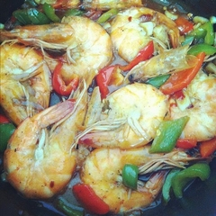A  little  tasty  shrimps - meal....  Enjoy !
