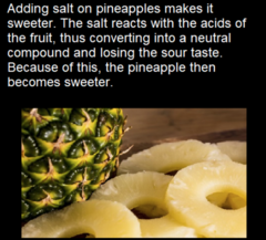 Put Salt on Your Pineapples