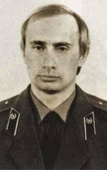 Vladimir Putin in KGB uniform, circa 1980.