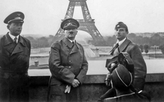 Hitler visits Paris in 1941, shortly after the invasion