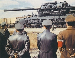 "The massive 800mm ""Schwerer Gustav"" railway gun"