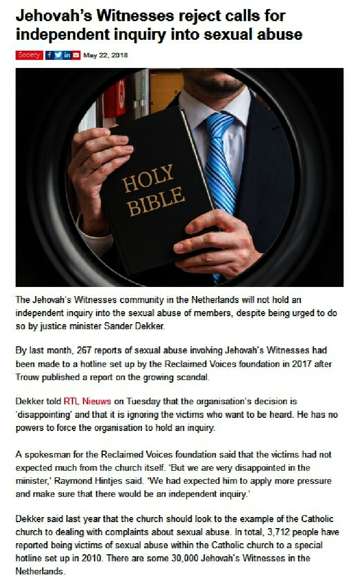WHY would Jehovah's Witnesses reject Government calls for