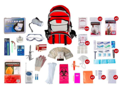 Disaster Go Bag - Super Deluxe 2 Person Kit (72+ Hours) ⠀
