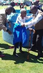 Granny Masango 100 years old got baptized today, from Memel Congregation