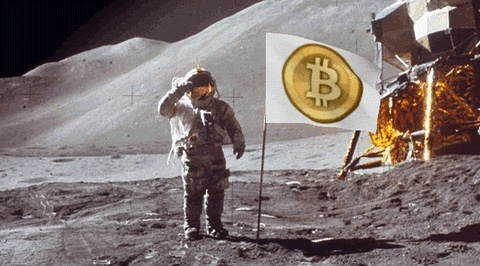 Bitcoin went to the Moon