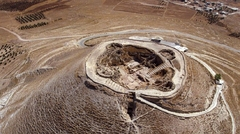 An aerial view of the hilltop fortress of Herodion near Bethlehem, where the ring was found