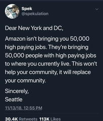 Dear NY and DC