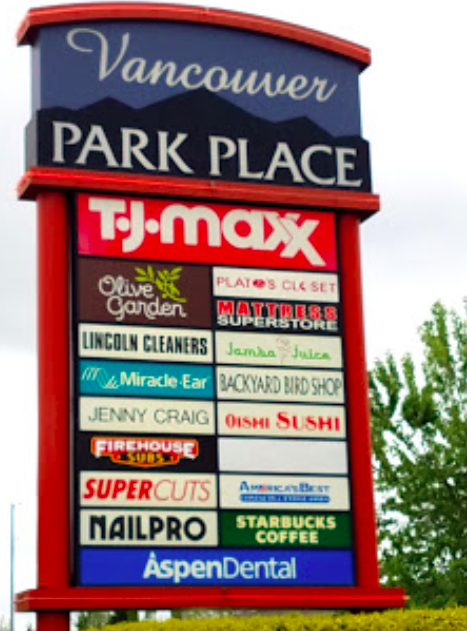 Sign for the Park Place Place