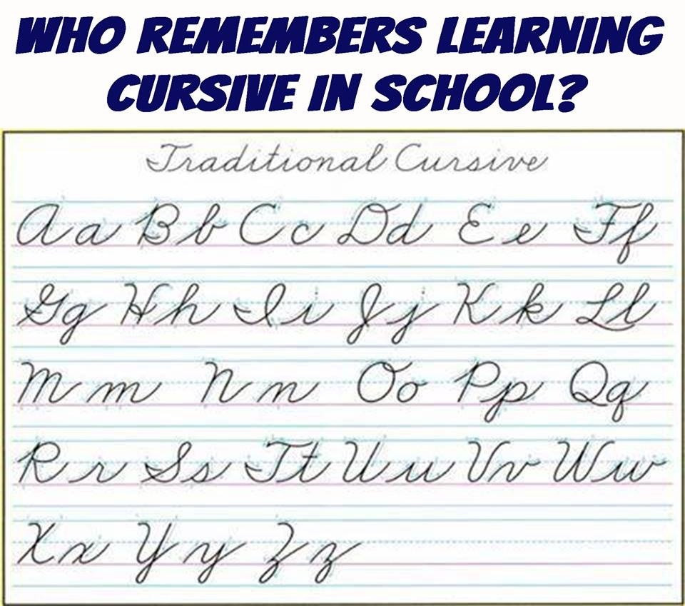 Who remembers learning cursive writing in school?
