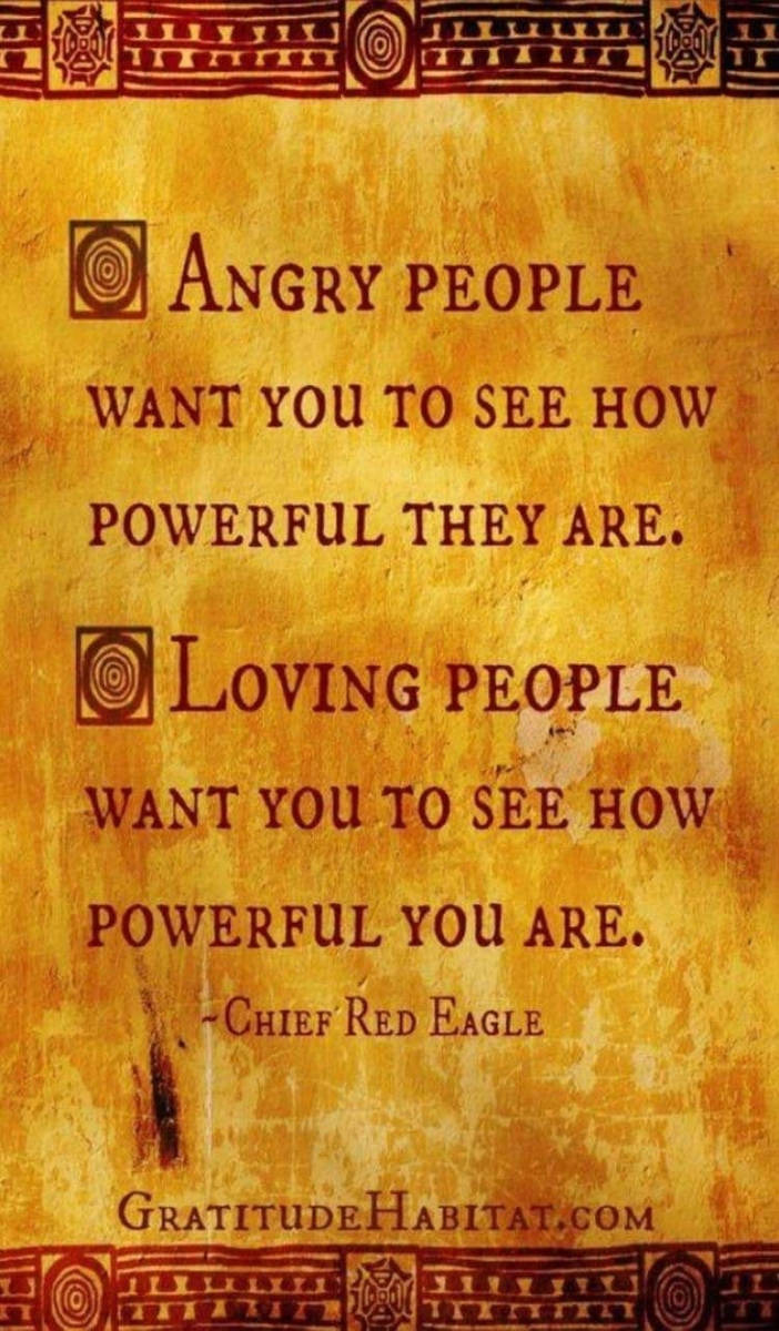 Angry people versus Loving people