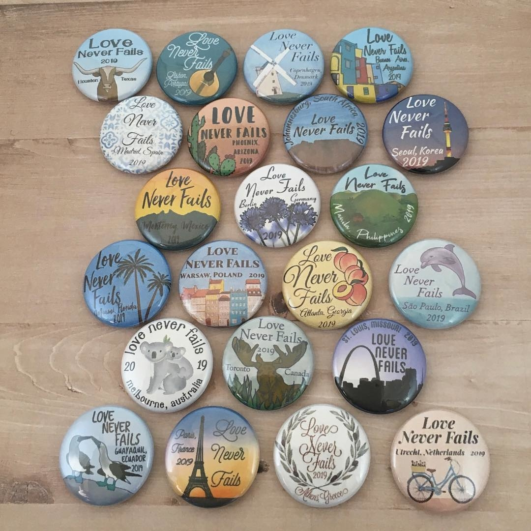 All of the 2019 International Convention buttons