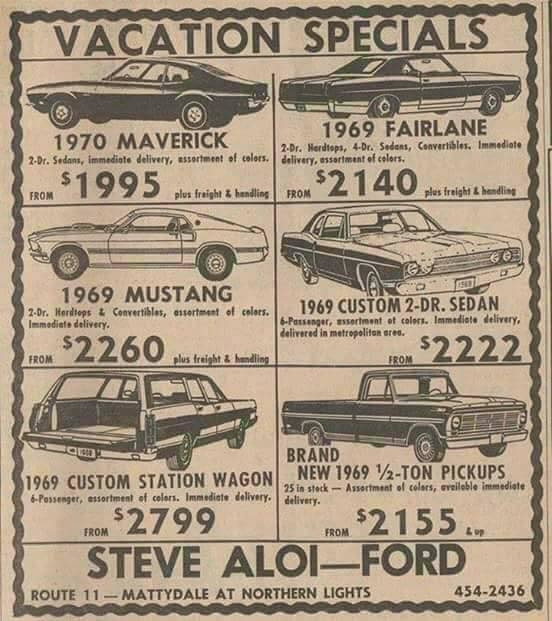 Look at these prices for cars