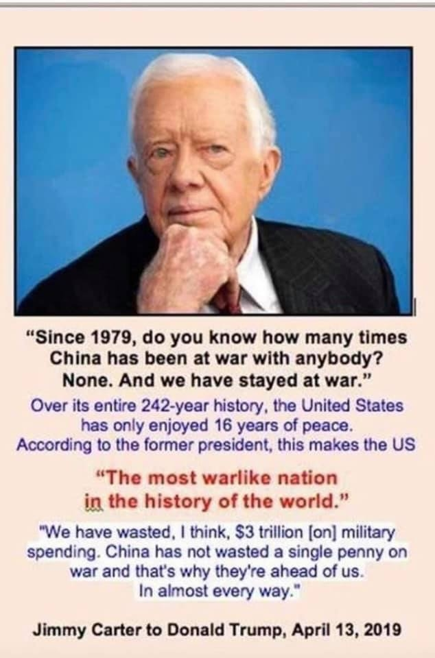 President Carter to President Trump