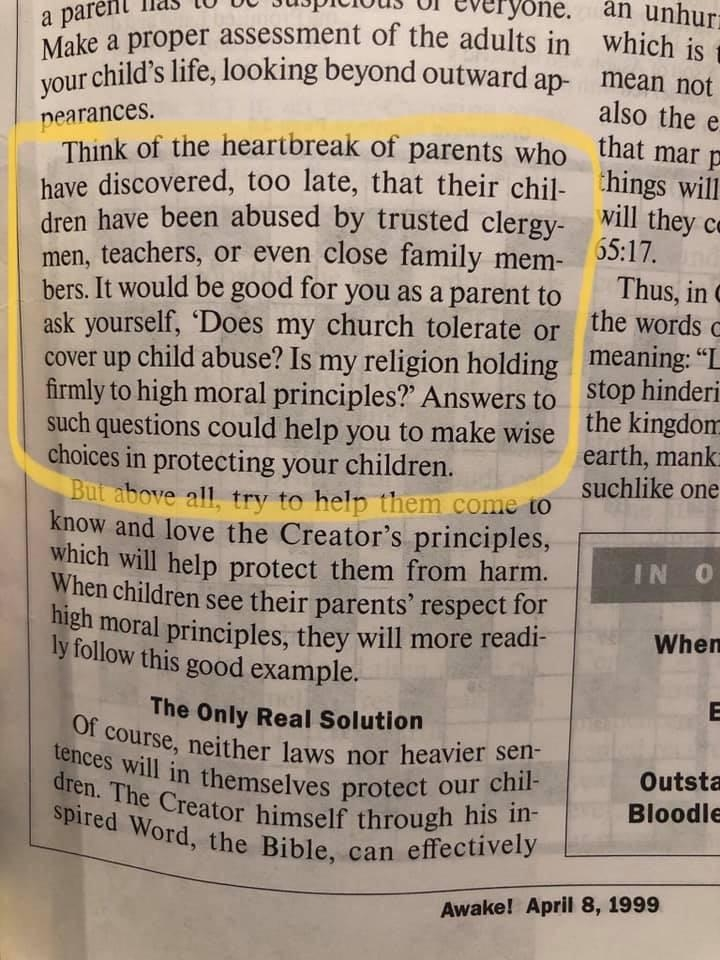 The Most Hypocritical Paragraph Jehovah's Witnesses Have Ever Written