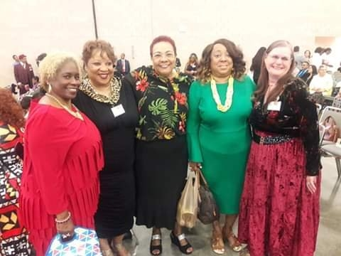 This was taken on Sunday, the third, and last day of our Convention! Me and my beautiful Spiritual Sisters from University Hills Congregation!