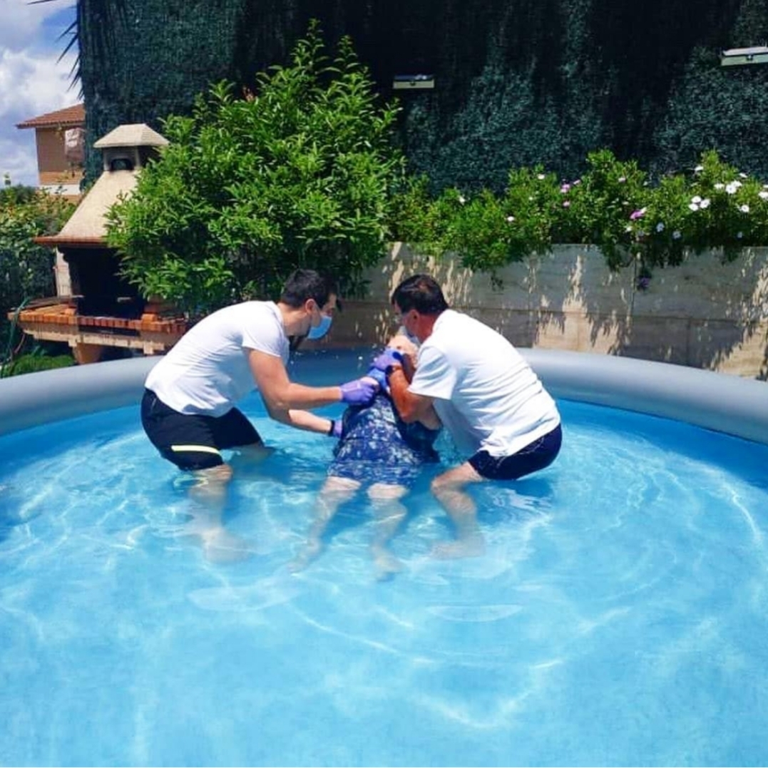 Our new sister in Barcelona, Spain. She's 86 years old and was baptized this past weekend. @loida_ubeda_